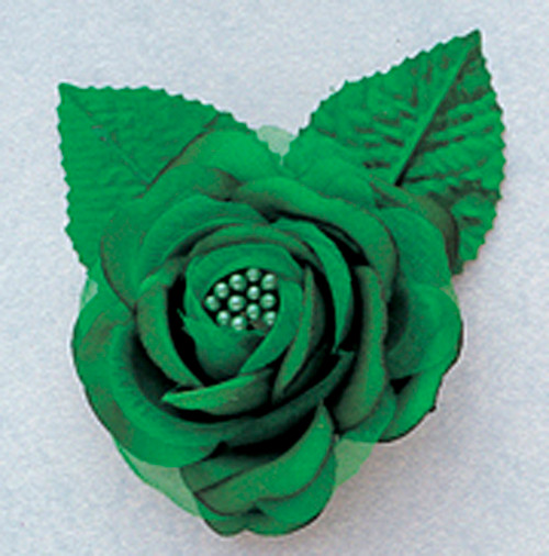 "2.5"" Emerald Silk Single Rose Flowers - Pack of 12"