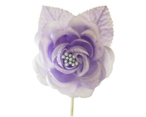 "2.5"" Lavender Silk Single Rose Flowers - Pack of 12"