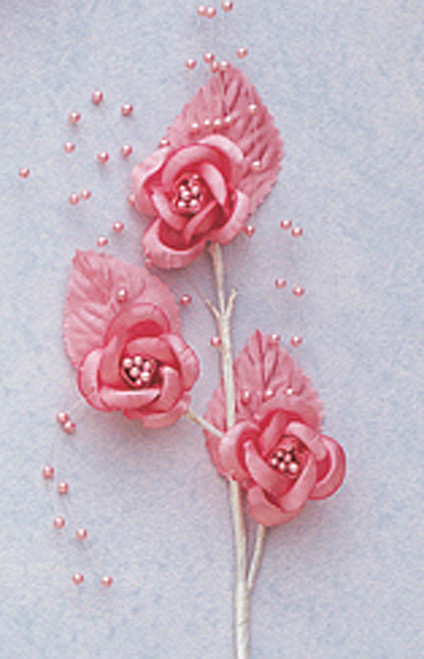"""6"""" Mauve Small Rose Flowers with Spray - Pack of 12"""