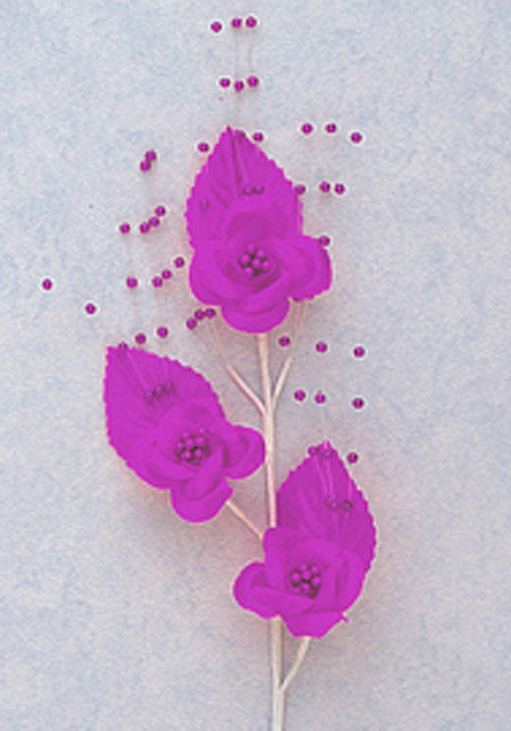 """6"""" Purple Small Rose Flowers with Spray - Pack of 12"""