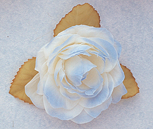 """3"""" Blue Dry Single Rose Silk Flowers with Plastic Base - Pack of 12 Pieces"""