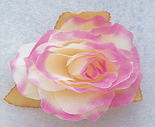 """3"""" Lavender Dry Single Rose Silk Flowers with Plastic Base - Pack of 12 Pieces"""