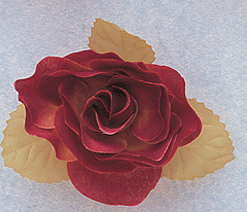 """3"""" Burgundy Dry Single Rose Silk Flowers with Plastic Base - Pack of 12 Pieces"""