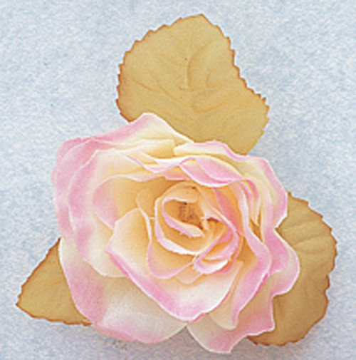"""3"""" Pink Dry Single Rose Silk Flowers with Plastic Base - Pack of 12 Pieces"""
