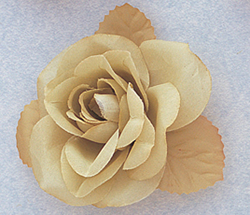 """3"""" Sage Green Dry Single Rose Silk Flowers with Plastic Base - Pack of 12 Pieces"""