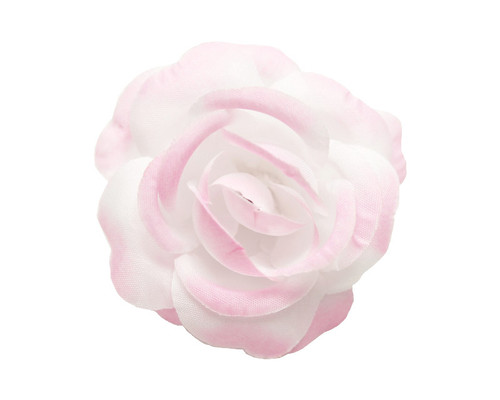 "2"" Pink Dry Single Rose Silk Flowers with Plastic Base - Pack of 12 Pieces"