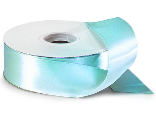 "1.5""x50 yard Aqua Blue Polyester Satin Gift Ribbon - Pack of 5 Rolls"
