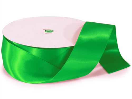 "1.5""x50 yard Emerald Polyester Satin Gift Ribbon - Pack of 5 Rolls"