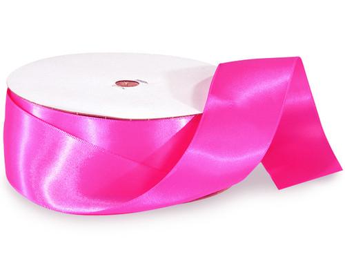 "1.5""x50 yard Fuchsia Polyester Satin Gift Ribbon - Pack of 5 Rolls"