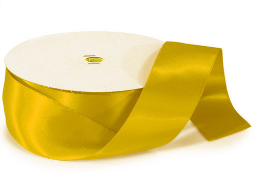 "1.5""x50 yard Gold Yellow Polyester Satin Gift Ribbon - Pack of 5 Rolls"