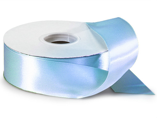 "1.5""x50 yard Light Blue Polyester Satin Gift Ribbon - Pack of 5 Rolls"