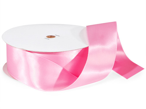 "1.5""x50 yard Light Pink Polyester Satin Gift Ribbon - Pack of 5 Rolls"