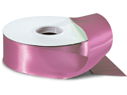 """1.5""""x50 yard Mauve Polyester Satin Gift Ribbon - Pack of 5 Rolls"""