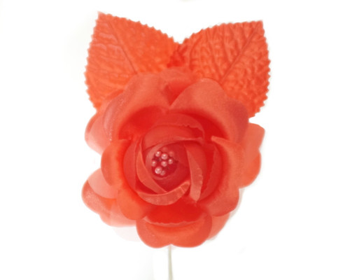"2.5"" Coral Silk Single Rose Flowers - Pack of 12"