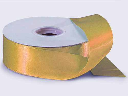 """1.5""""x50 yard Old Gold Polyester Satin Gift Ribon - Pack of 5 Rolls"""