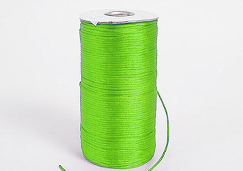 2mm wide x 100 yards Apple Green Rattail Cord Trims - Pack of 5 Spools