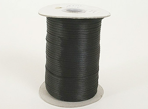 2mm wide x 100 yards Black Rattail Cord Trims - Pack of 5 Spools