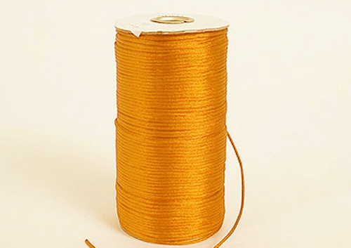 2mm wide x 100 yards Gold Yellow Rattail Cord Trims - Pack of 5 Spools
