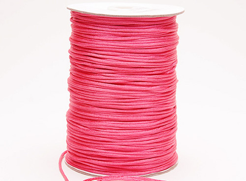 2mm wide x 100 yards Hot Pink Rattail Cord Trims - Pack of 5 Spools