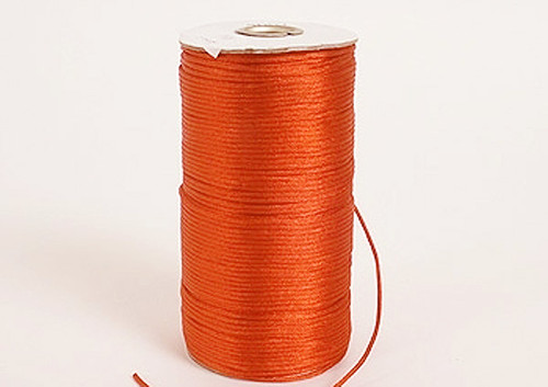 2mm wide x 100 yards Orange Rattail Cord Trims - Pack of 5 Spools