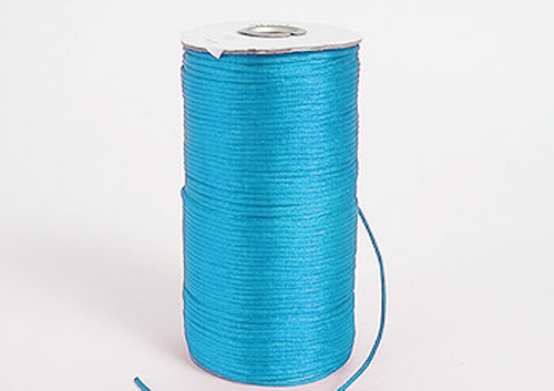 2mm wide x 100 yards Turquoise Rattail Cord Trims - Pack of 5 Spools