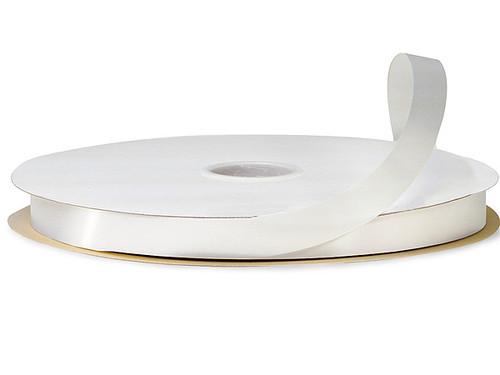 "3/8""x100 yard White Polyester Satin Gift Ribbon - Pack of 15 Rolls"