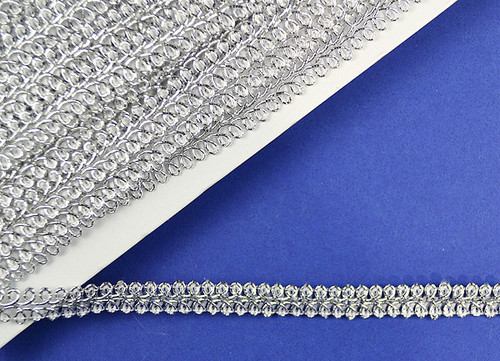 "1/2"" x 15 Yards Silver Gimp Braid - 5 Packs Gimp Braid Trim"
