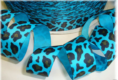 "7/8""x 10 yards Leopard Animal Print Grosgrain Gift Ribbon - Pack of 7 Rolls"