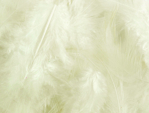 Ivory Loose Turkey Feathers