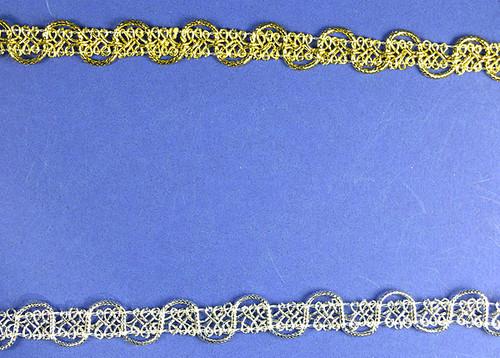 """1/2"""" x 20 Yards Metallic Lace Trim - 5 Packs Metallic Trim"""