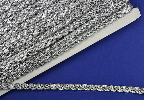 "5/16""x 15 Yards White with Silver Trim - 5 Packs Metallic Braid Trims"