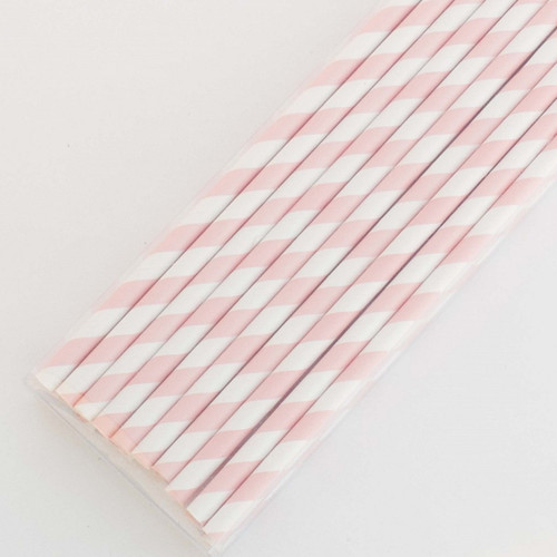 Pink Pretty Paper Straws - Pack of 200