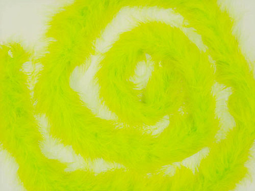 """1.5"""" Wide 72"""" (6 Feet) Long Apple Green Marabou Feather Boas - Pack of 10"""