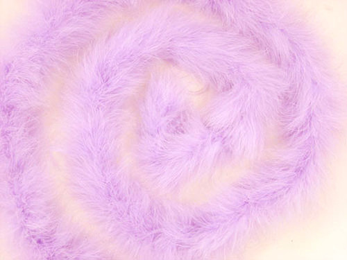 "1.5"" Wide 72"" (6 Feet) Long Lavender Marabou Feather Boas - Pack of 10"