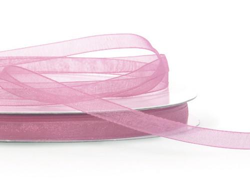 "7/8""x25 yards Mauve Organza Sheer Gift Ribbon - Pack of 7 Rolls"