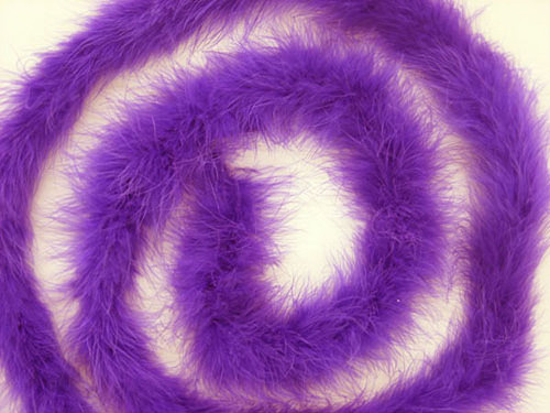 "1.5"" Wide 72"" (6 Feet) Long Purple Marabou Feather Boas - Pack of 10"