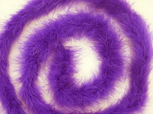 "1.5"" Wide 72"" (6 Feet) Long Purple Marabou Feather Boas - Pack of 10"