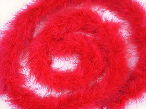 "1.5"" Wide 72"" (6 Feet) Long Red Marabou Feather Boas - Pack of 10"