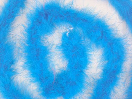 "1.5"" Wide 72"" (6 Feet) Long Turquoise Marabou Feather Boas - Pack of 10"