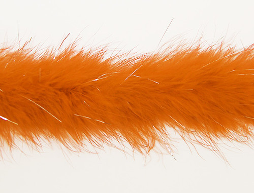 "1.5"" Wide 72"" (6 Feet) Long Orange Marabou Feather Boas - Pack of 10 Boas"