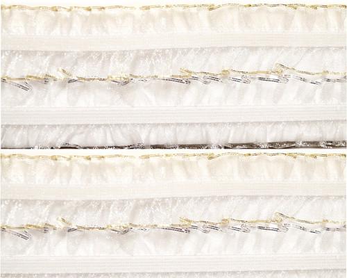 """1"""" x 20 Yards White Organza Stretch Lace Trim - 5 Packs Organza Trim"""