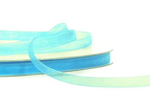 "7/8""x25 yards Blue Organza Sheer Gift Ribbon - Pack of 7 Rolls"