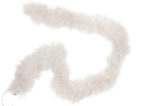 "1.5"" Wide 72"" (6 Feet) Long White Marabou Feather Boas - Pack of 10"