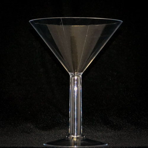 "9"" Large Plastic Martini Cup - Pack of 12 Martini Cups"