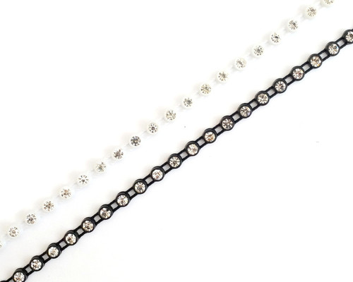 SS10 2.8 mm Plastic Trimming Chain with Rhinestones 10 Yards Long