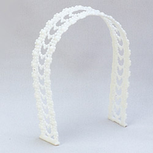 "4.5"" White Plastic Wedding Arches - Pack of 288 Arches"
