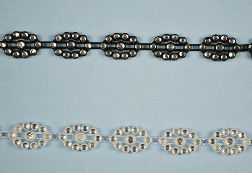 SS8 2.5 mm Plastic Trimming Chain with Rhinestones 10 Yards Long 2
