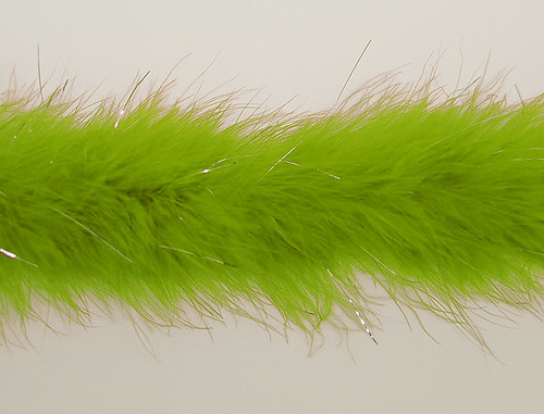 "1.5"" Wide 72"" (6 Feet) Long Apple Green Marabou Feather Boas - Pack of 10 Boas"