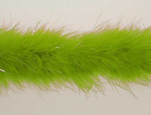 "1.5"" Wide 72"" (6 Feet) Long Apple Green Marabou Feather Boas - Pack of 10 Boas"