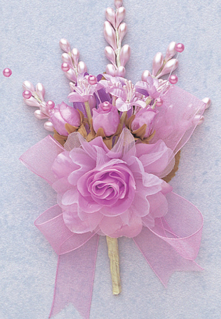 "7"" Lavender Bridal Corsage Silk Spray Flowers - Pack of 12"